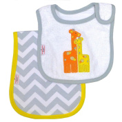Happy Chic Baby By Jonathan Adler Giraffe Bib and Burp Cloth Set