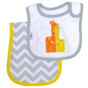 Happy Chic Baby By Jonathan Adler Giraffe Bib and Burp Cloth Set