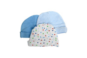 Comfy Baby 3-Pack Assorted Infant Boys Cotton Caps 0-3 Month