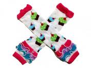 KWC - White Cupcakes Ruffles Baby Leg Warmer