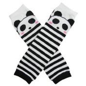 Ayygift Lovely Baby & Toddler Leg Warmers - Panda Black & White Stripe One Size