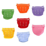 Water & Wood 7pcs Reusable Washable Adjustable Baby Soft Cloth Nappy Nappy with Inserts Toddler Dry Tender Care