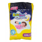 Babylove Nappies Night Pants Size XXL ,Maximum Dryness for Long Lasting Skin Protection.