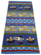"Aloha 100% Cotton Beach Towel ""Pirates"", Blue/Multicoloured,"