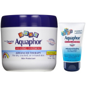 Aquaphor Baby Healing Ointment, Advanced Therapy, 410ml Jar Plus Convenient 90ml Tube