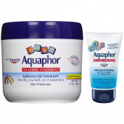 Aquaphor Baby Healing Ointment, Advanced Therapy, 410ml Jar Plus Convenient 90ml Tube
