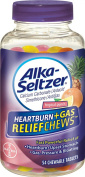 Alka-Seltzer Heartburn Plus Gas Relief Chews, Tropical Punch, 54 Count
