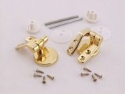 Vemco 9Unhbr Wood Toilet Seat Hinges Brass