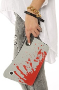 Bloody Cleaver Hatchet Knife Kreepsville 666 Halloween Horror Clutch Purse Handbag