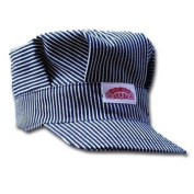 Round House Train Conductor Hickory Striped Engineer Hat - Child - Made in USA