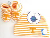 Tennessee Volunteers Striped Infant Newborn Hat Booties Baby Gift Set UT