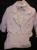 White Baby Tuxedo Christening Baptism with Design - 4T