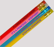 12 Personalised Round Pencils - ezpencils