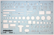 Electrical and Electronic Installation Symbols Drawing Template Stencil - Engineering Drafting Supplies - Layout Plan Schematic Wiring