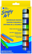 Simply Art Watercolour Crayons, 8-Count