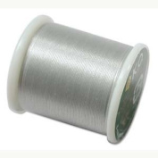 Japanese Nylon Beading K.O. Thread for Delica Beads - Light Grey 50 Metres