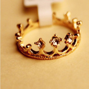 Topstaronline (TM) Lovely Cute Gold Royal Feeling Shining Crown Crystral Ring