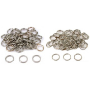 Nickel Plated Split Rings 12mm & 16mm Kit 100 Pcs