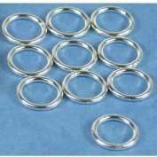10 Sterling Silver Jump Rings Closed Jewellery 18 Gauge 8mm