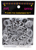 Fun Weevz Metalic Silver Rubber Bands