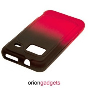 OEM Rubberized Proguard Case (Black to Transparent Red Gradient Design) for HTC Droid Incredible