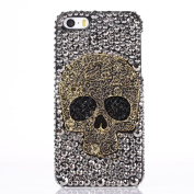 Rosepark(TM)Dexule Fashion 3D Bling Skull Rhinestone Hard Case Cover for iPhone 5 5G 5S with Screen Protector and Stylus