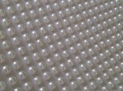 400 X 4mm Stick on Self Adhesive White Pearl Gems Wedding Cards Craft Ivory