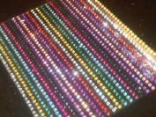 880 3mm Self Adhesive Mix Diamante Rhinestone Stick on Gems Crystals Card Craft