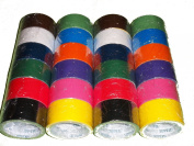 24 Roll Variety Pack Solid Colours (brights and regular colours) of All Purpose Duct Tape. Brights Include