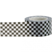 Little B 100338 Decorative Paper Tape, Black and White Cheque
