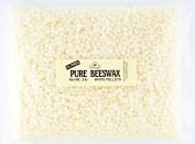 Stakich 0.9kg Pure White BEESWAX Pellets - Cosmetic Grade, Top Quality -