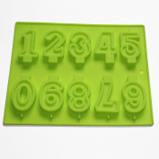 Numbers Candle Candy Silicone Mould for Birthday Cake Ice Cream Decoration