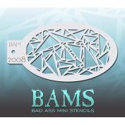 Bad Ass Prismatic Mini Stencil BAM2008