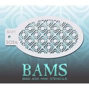 Bad Ass Retro Circles Mini Stencil BAM2024