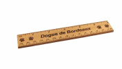 Dogue de Bordeaux 15cm Alder Wood Ruler