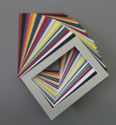 Pack of 50 5x7 Picture Mats with White Core Bevel Cut for 4x6 Pictures Various Colours