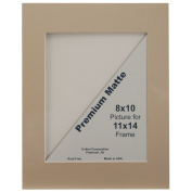 Callen Photo Mat Single Hand Cut With Bevel Edge (28cm X 36cm ) - in your choice of colour