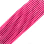 BEADNOVA 1.5mm Genuine Fuchsia Round Leather Cords For Bracelet Necklace Jewellery Making 10 Metres
