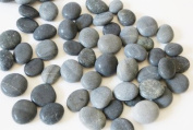 Highly Polished River Rocks, 2.5cm - 3.8cm , 20 Shades of Grey