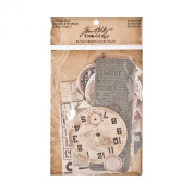 Expedition Ephemera Pack by Tim Holtz Idea-ology, 63 Pieces, Assorted Colours/Designs, TH93115