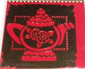 Mary Englebrett Brass Stencil - Teapot shape