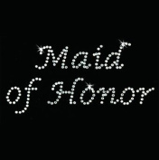 Iron on Hot Fix Rhinestone Motif Design Maid of Honour - Lucinda