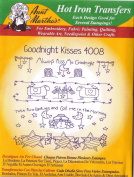 Goodnight Kisses Aunt Martha's Hot Iron Embroidery Transfer