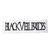 12cm X 3.3cm Black Veil Brides Embroidered iron on patch metal punk hip hop band logo for t shirt hat jacket