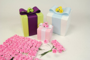 Pink Small Mini Paper Rose Bud Flowers- 1.3cm X 144 Pieces