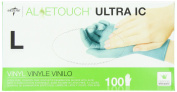 Medline Aloetouch Ultra IC Powder-Free Latex-Free Synthetic Exam Gloves, Large, 100 Count