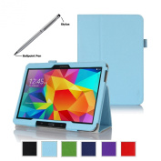 ProCase for for for for for for for for for for Samsung Galaxy Tab 4 10.1 Tablet Case with bonus stylus pen - Bi-Fold Stand Cover Case for 25cm Galaxy Tab 4 (2014 released), with auto Sleep/Wake, Hand Strap, also compatible with Galaxy T