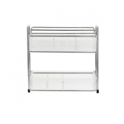 Danielle Enterprises Acrylic Organiser Wire Rack with 2 Drawers, Silver