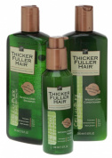 Thicker Fuller Hair Hair Solutions Revitalising Shampoo, Weightless Conditioner and Instantly Thick Serum