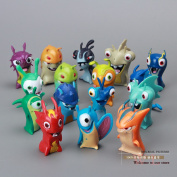 Cute New Movie Cartoon Slugterra Pvc Action Figures Toys 16pcs/set S Boys Toys Dsfg072